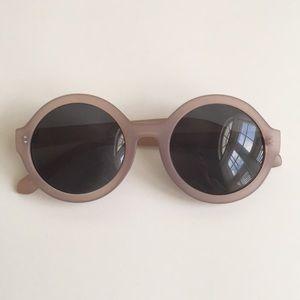 Dusty Rose Round Sunglasses